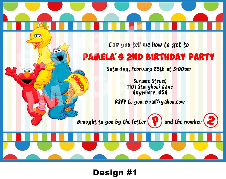 Street Party Invitation Template. Sesame Street Birthday ...