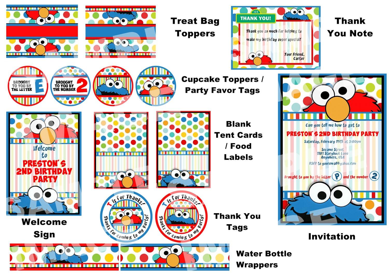 Elmo Birthday Invitations Personalized as great invitation layout