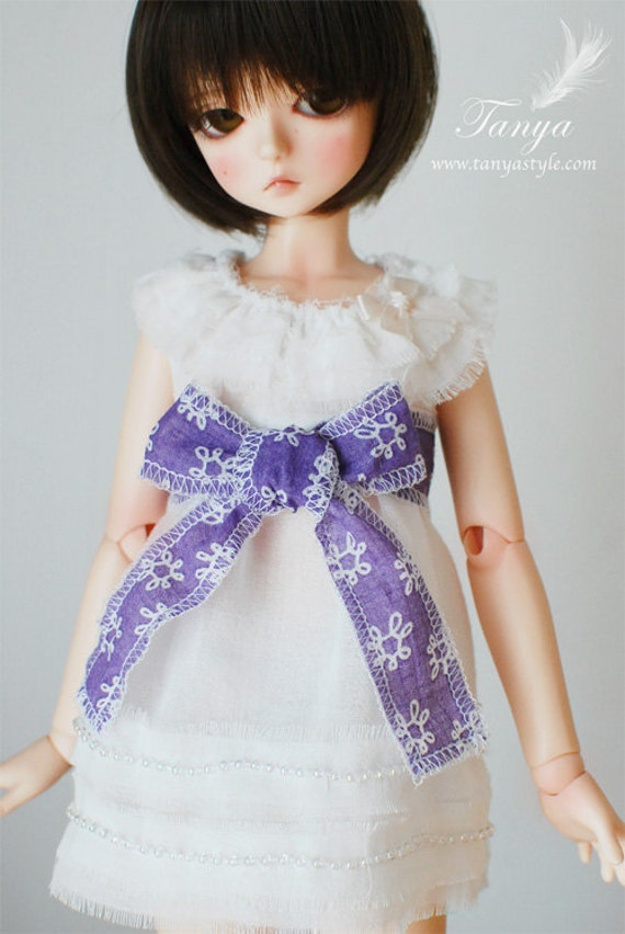 Fluff edge dress for Narae/MSD/Unoa