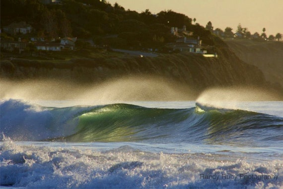 Waves At Redondo 12.11 Hand Made Art Photo Card by Randy Ruby