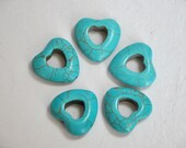 heart  turquoise   beads