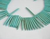 turguoise 50 pieces   gemstone  jewelery making materials.REF-530