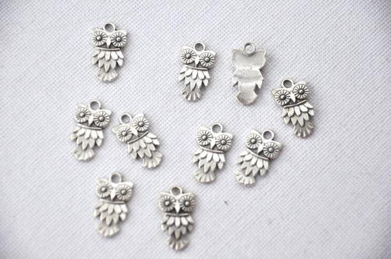 owl 10  pcs   jewelry making materials. REF-185