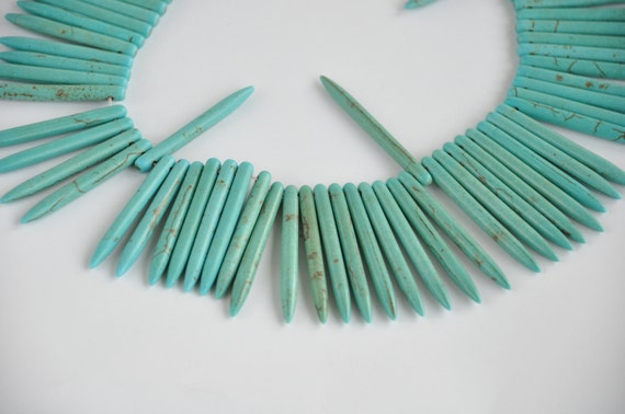 turguoise 50 pieces   gemstone  jewelery making materials.REF-530