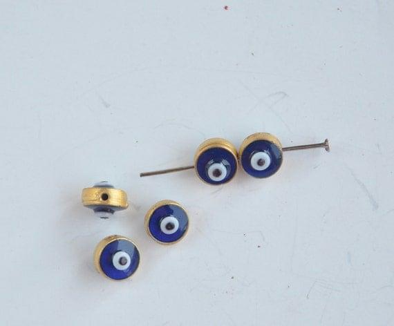 handmade glass beads 5 piece jewelery making materials.REF-658