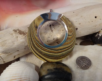 Handmade Wood and Sterling Silver Pendant