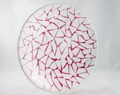 Cranberry Red Glass Mosaic Serving Plate