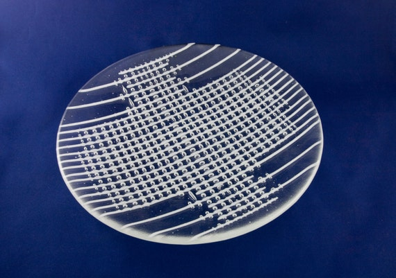 Reserved for Yvette Round Glass Bubble Plate