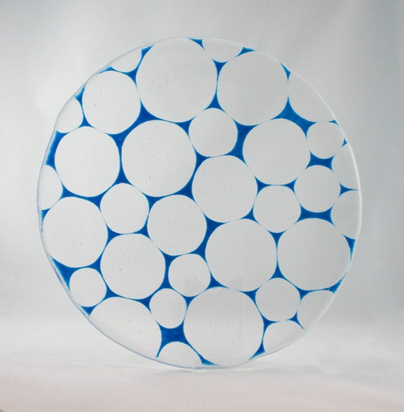 Circles of Glass Mosaic Serving Plate