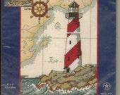 Cross Stitch Kit Nautical Light by Dimensions Inc 5 X 7 Aida Fabric