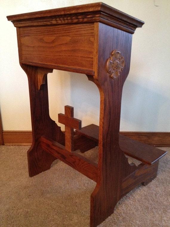 Traditional Oak Prayer Kneeling Bench Prie Dieu