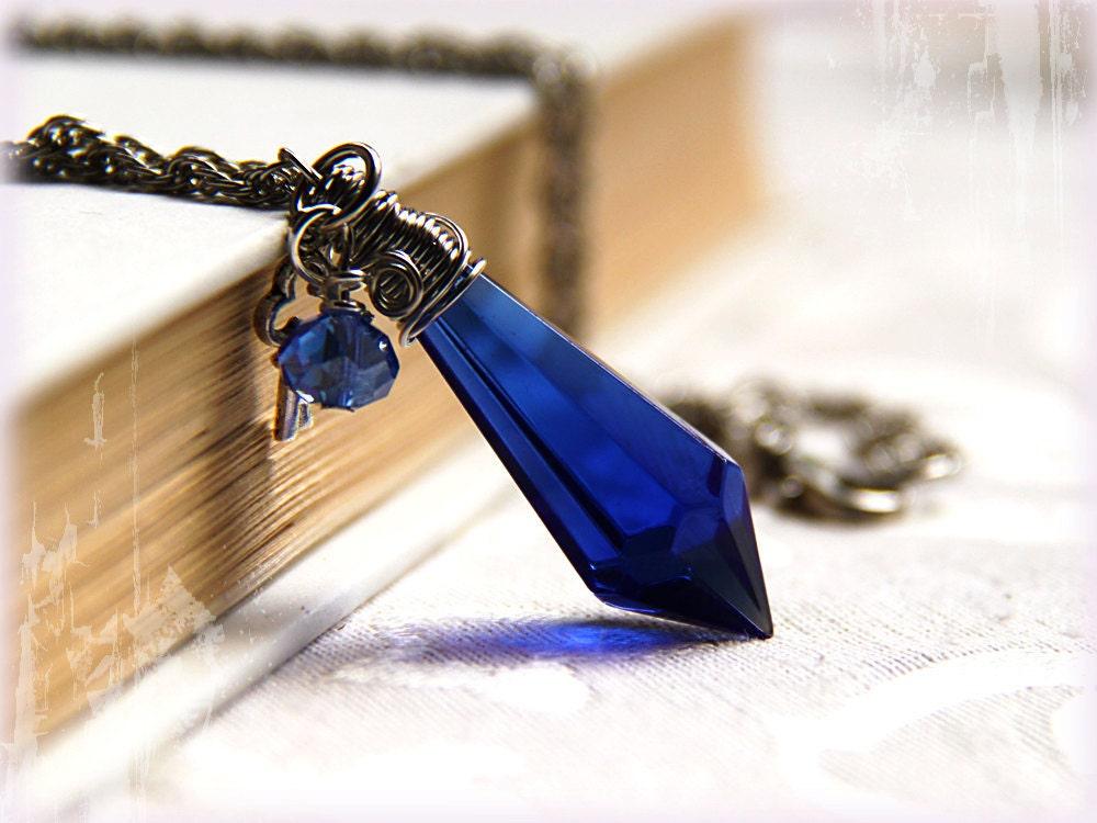 Blue crystal necklace other dressesdressesss blue crystal necklace aloadofball Images