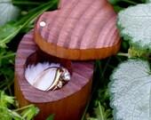 Engagement Ring Box - Heart Shaped Ring Box - Wedding Ring Box - Ring Box for Bride and Groom Rings - Proposal Box