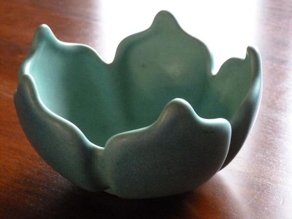 Vintage Van Briggle Bowl, Turquoise - OOAK