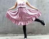 ON SALE 40% OFF---Pink dress vest dress cotton dress linen dress flower dress