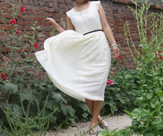 Lace dress pleated dress round neck sleeveless dress chiffon dress princess dress lolita dress