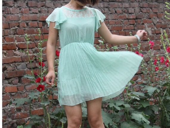 60% OFF ON SALE--------chiffon maxi  dress green dress  princess dress lolita dress pleated dress lace dress mini dress