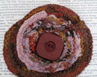Felted Wool Brooch/Pin
