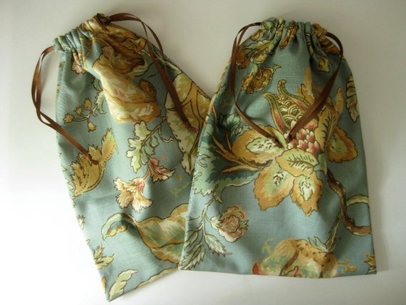 Pair of Linen Shoe Bags