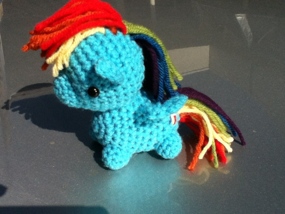 Amigurumi Pattern My Little Pony : Custom crochet chibi amigurumi pony