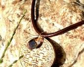 Double Happiness Prosperity EnlightenMint necklace