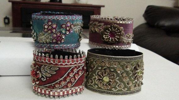 Set Of  Four  Vintage Look Bracelets