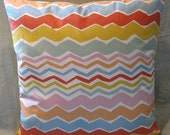 """18"""" zippered pillow cover, reversible with hand-dyed yellow back"""