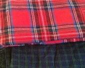 Fabric Destash Plaids