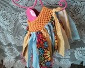 Shabby Chic Yellows and Baby Blues Cowgirl Tutu
