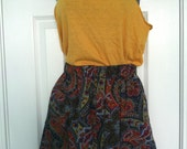 Vintage Bright Paisley Shorts