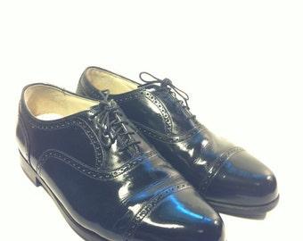 Mens Black Leather Oxford 8  Florsheim Formal Dress Shoes US 8 - 42