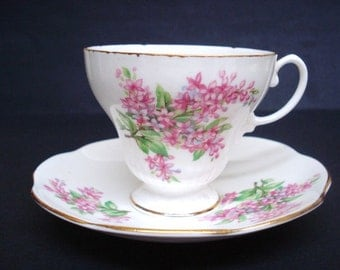 Spectacular Heathcote Cup and Saucer Set Teacup Set Bone China Made in England