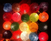 20 x Party Wedding set mix cotton ball color string light set connectable strand patio home decor light