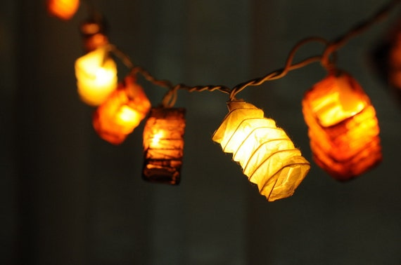 20 x Japanese asia cocoon paper string light patio decoration deco room wedding patio party oriental paper