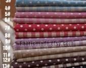 Linen Fabric Linen Cotton Fabric Plaid Fabric Dots Fabric Polka Dots Linen Fabric - 1/2 yard