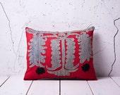 "coupon code "" YASTK20 "" - handmade vintage suzani pillow cover - 14.17"" x 17.72"" - free shipment with UPS -00664-48"