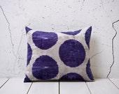 15 x 18 Decorative Pillow Accent Pillow Throw Pillow Ikat Pillow Cover Silk Pillow Velvet Ikat Cushion - 02127-79