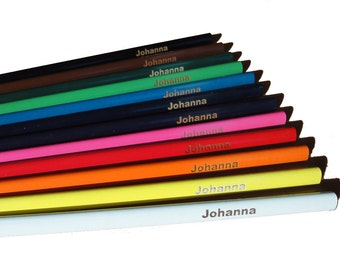 12 Color Pencils customised with name