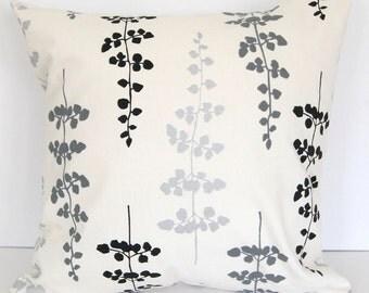 Throw pillow cover sham cushion cover gray black silver ivory