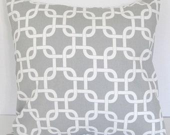 "Decorative pillow cover 18"" x 18"" gray"