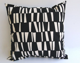 Decorative Throw pillow cover One Sticks pattern in Black and Natural cushion cover pillow sham home decor