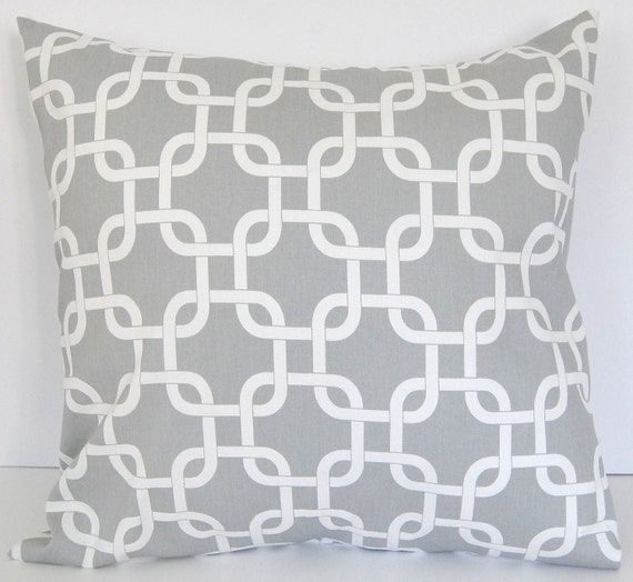 "Decorative pillow cover 18"" x 18"" gray"