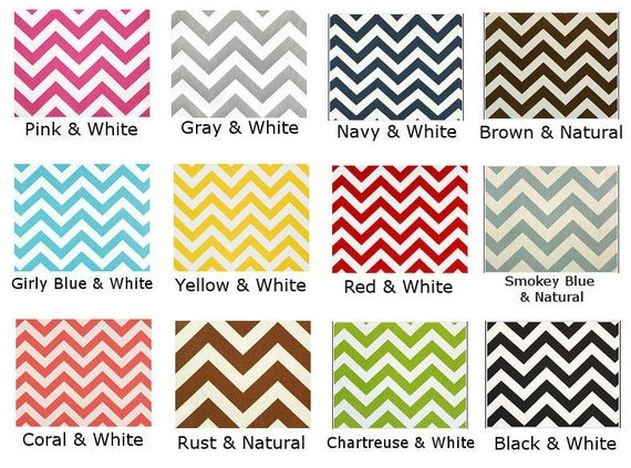 Chevron decorative cushion pillow cover choose your color yellow green black red navy gray chevron