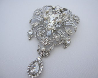 Wedding accessories,Large bridal brooch,wedding brooch,bridal rhinestone brooch,bridal comb,wedding hair comb,bridal ,bridesmaid gift,bridal