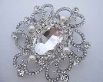 Wedding brooch pin Bridal brooch pin Wedding Jewelry Brooches Bridal dress brooches Wedding brooches Pearl Bridal brooches Rhinestone Brooch