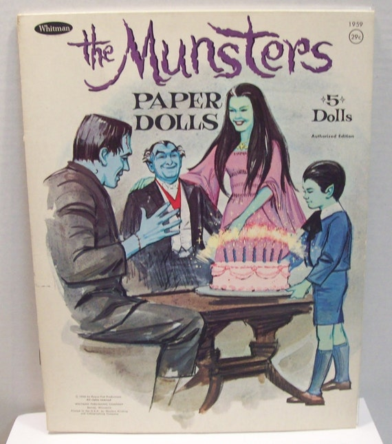 vintage The Munsters paper dolls 1966  Whitman no1959