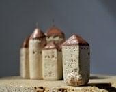Château de Chillon (Chillon Castle) Switzerland Abstract Architectural Sculpture little clay house