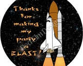 """Space Shuttle Stickers - Sheet of 20 - 2"""" round"""