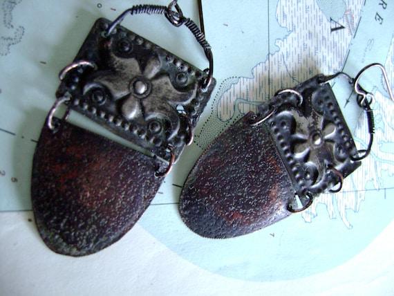 Turkoman Goes Tribal earrings by Anvil Artifacts