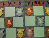 20 12 x 12 Premade Scrapbook Pages for Baby's First Year